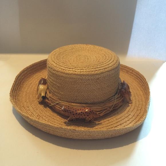 vendita a basso prezzo nuova alta qualità fascino dei costi Cappelli Accessories | Vintage Safari Theme Straw Hat | Poshmark